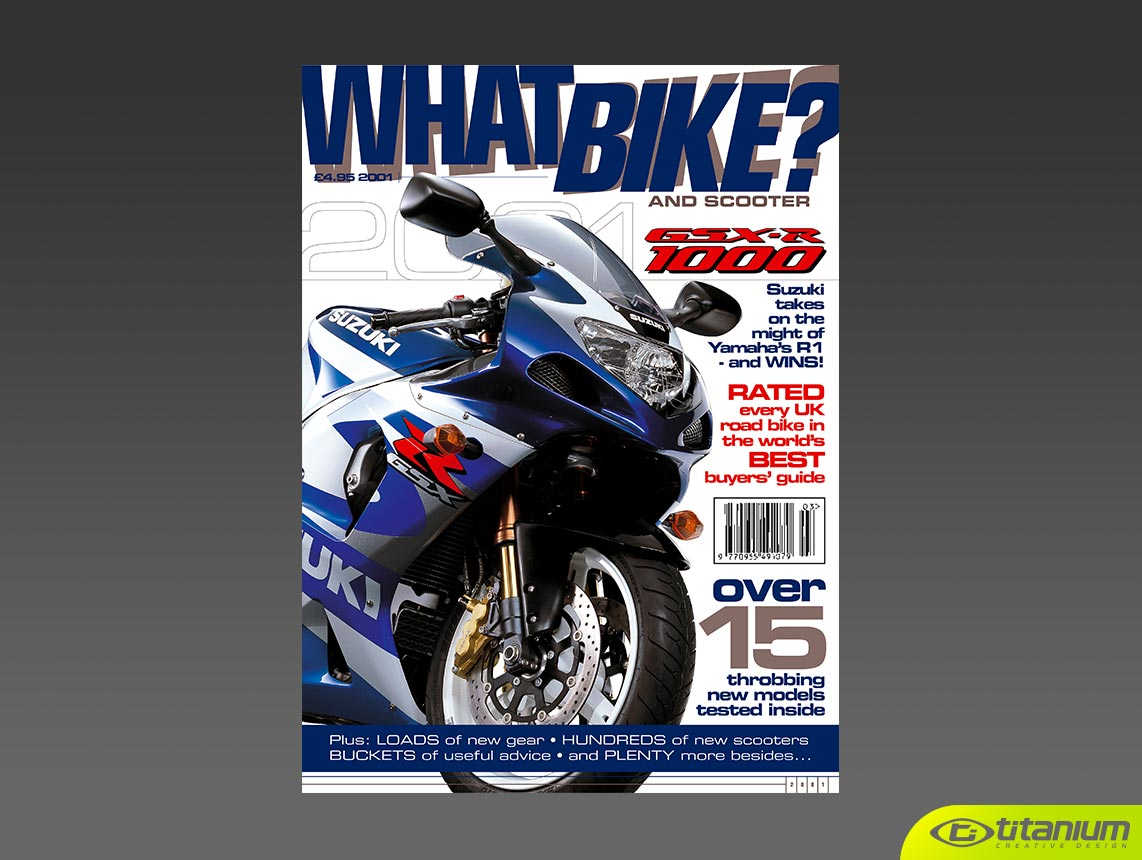 book cover design and publishing - Titanium Design 0800 0835 795 - what-bike-magazine